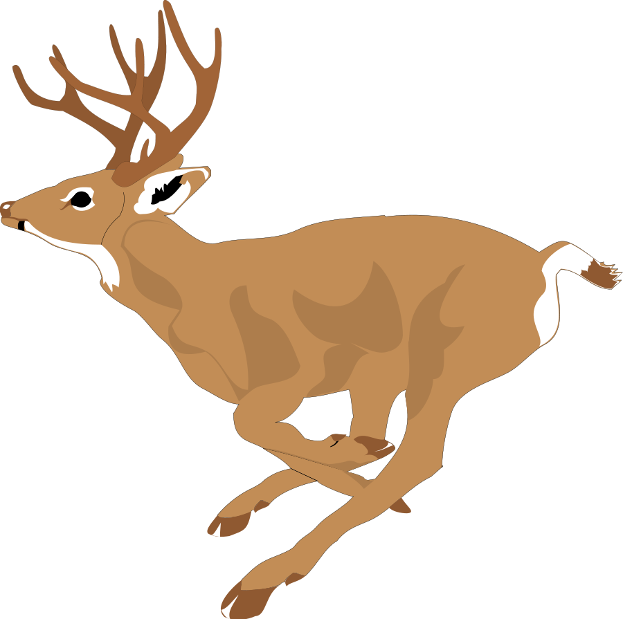 Clipart walking deer.  collection of free
