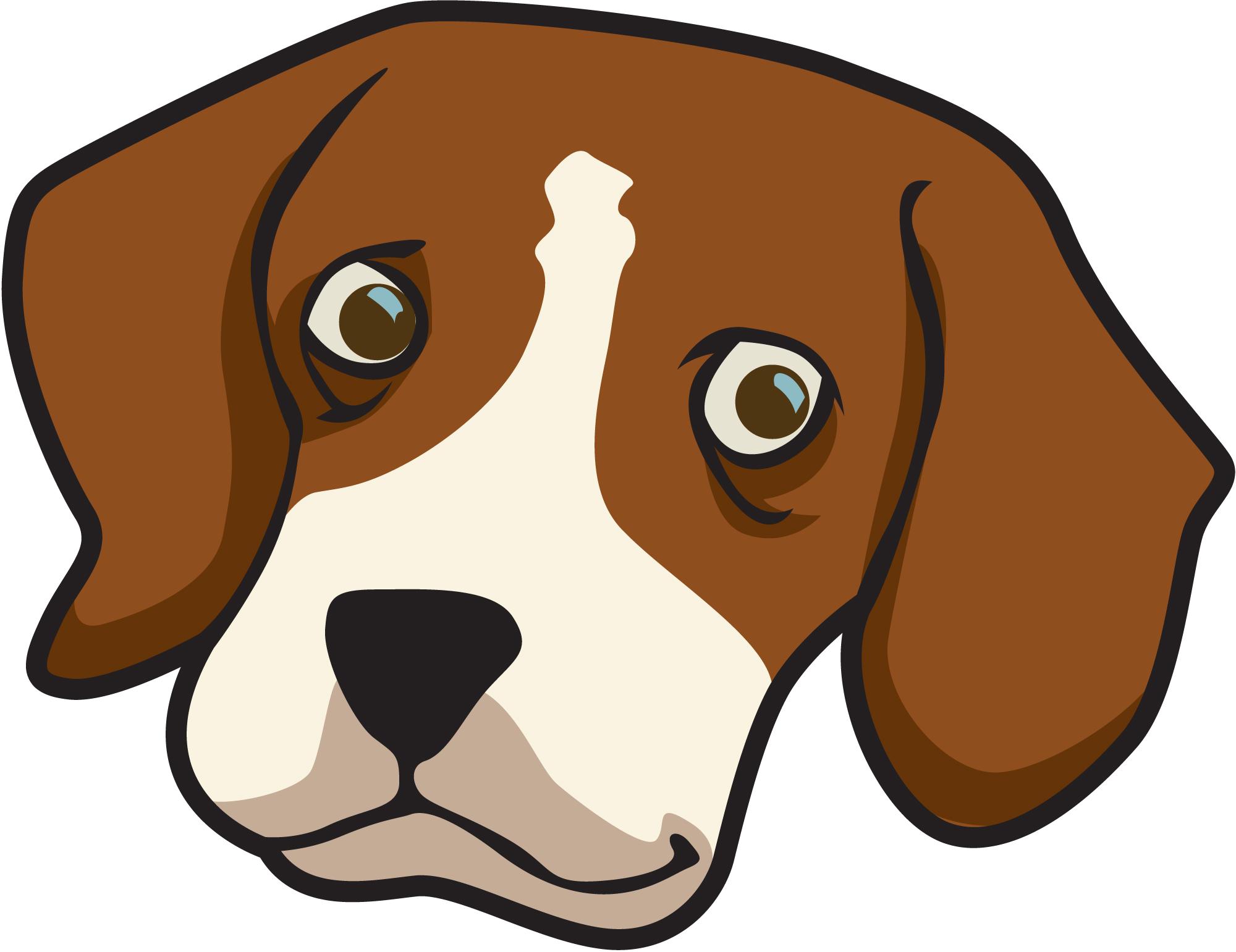 face clipart dog