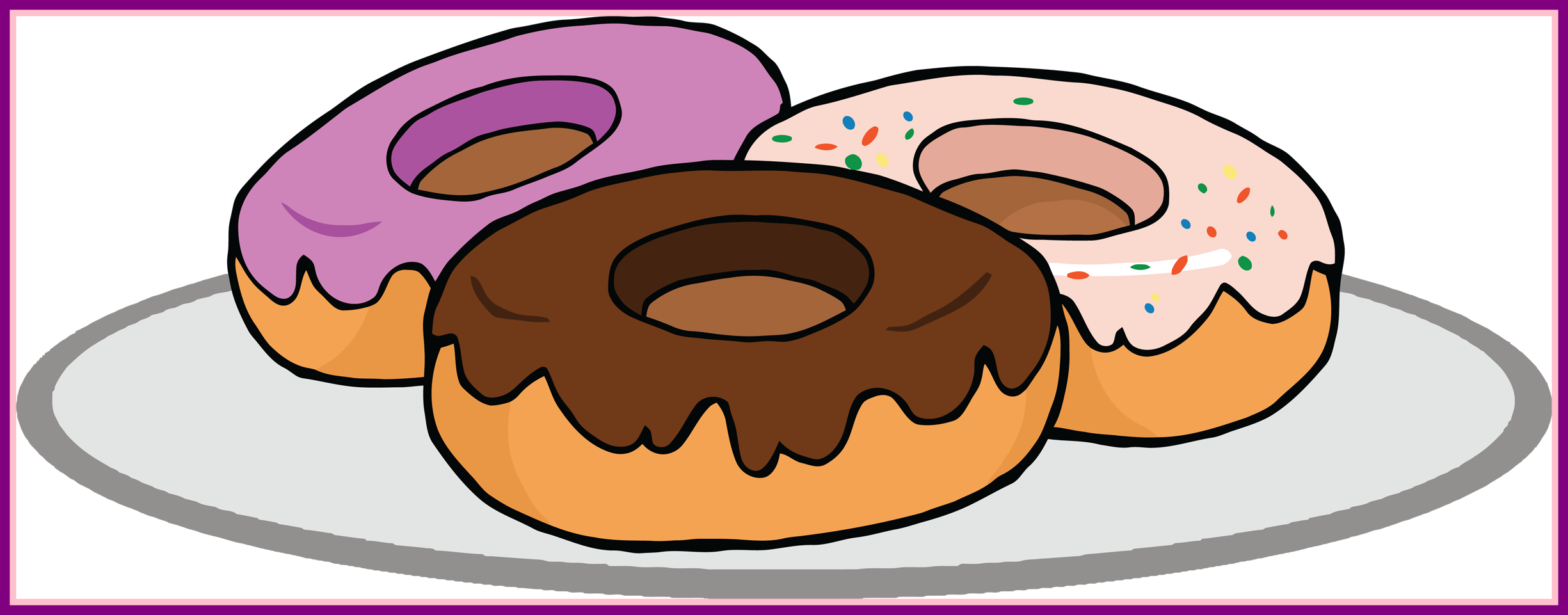 Donuts clipart printable. Shocking donut clip art