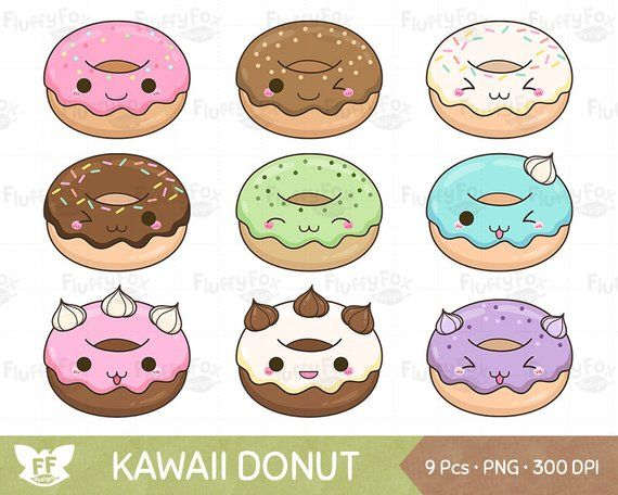 Donuts clipart kawaii. Donut doughnut clip art