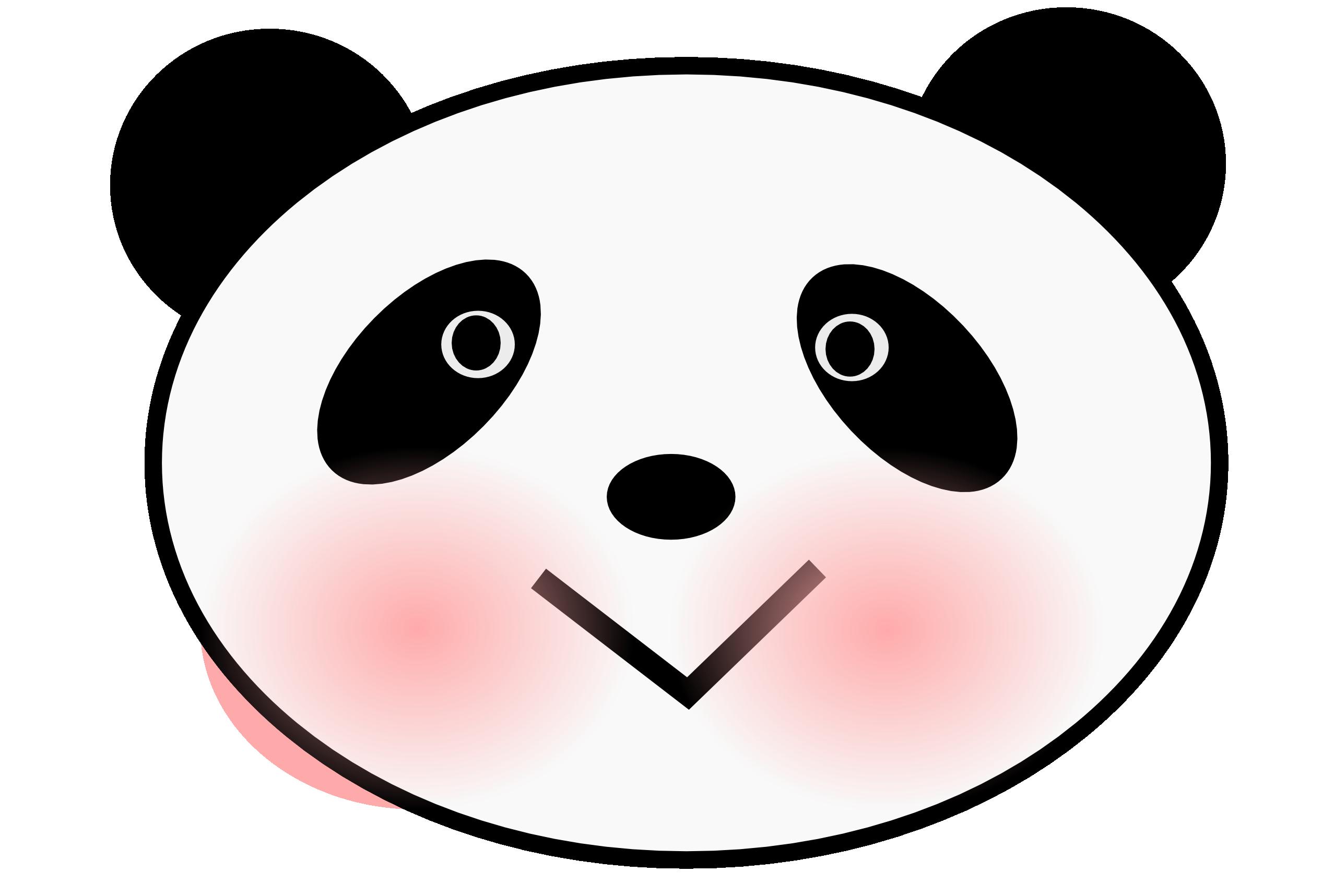 Face clip art library. Clipart panda little panda
