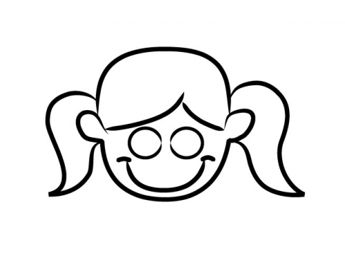 Free girl drawing download. Faces clipart easy