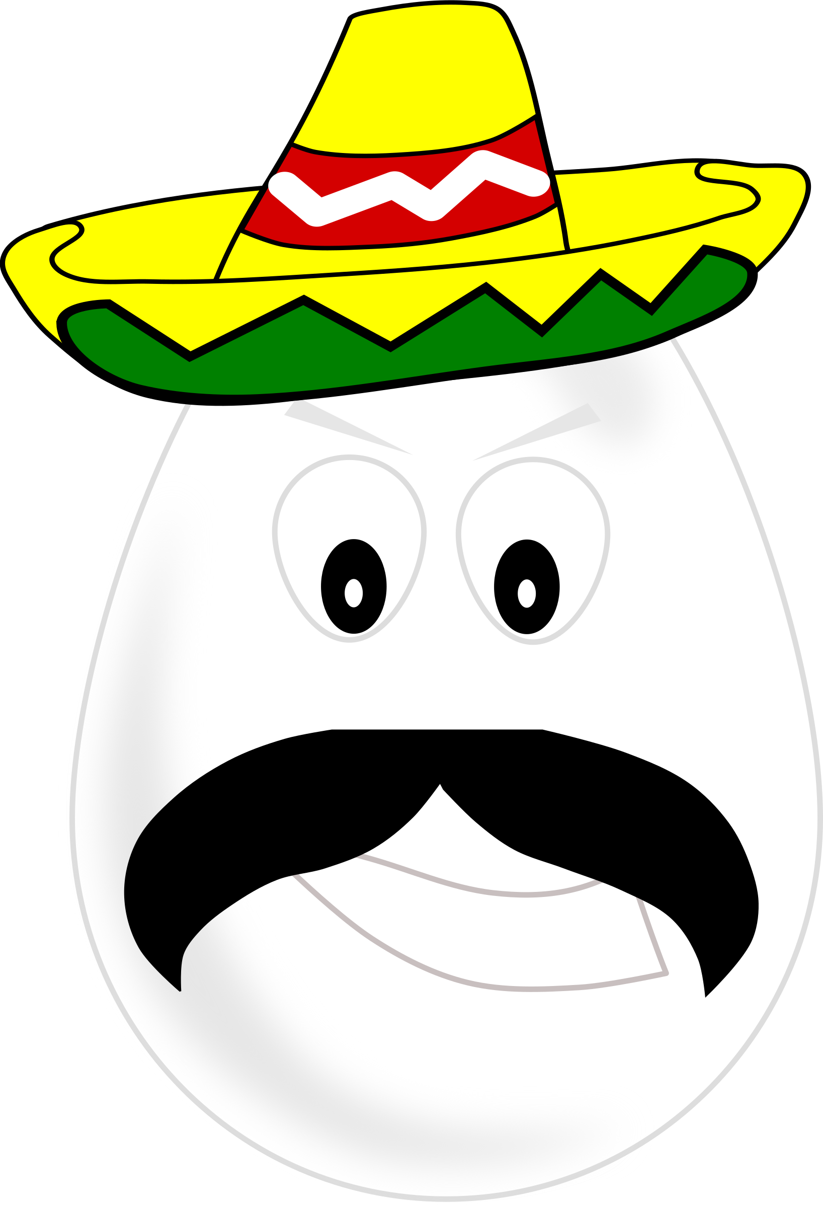 Mexican egg big image. Moustache clipart sombrero