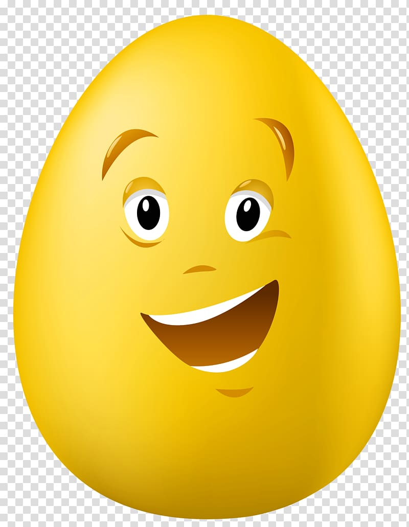 Egg clipart face. Yellow with illustration easter