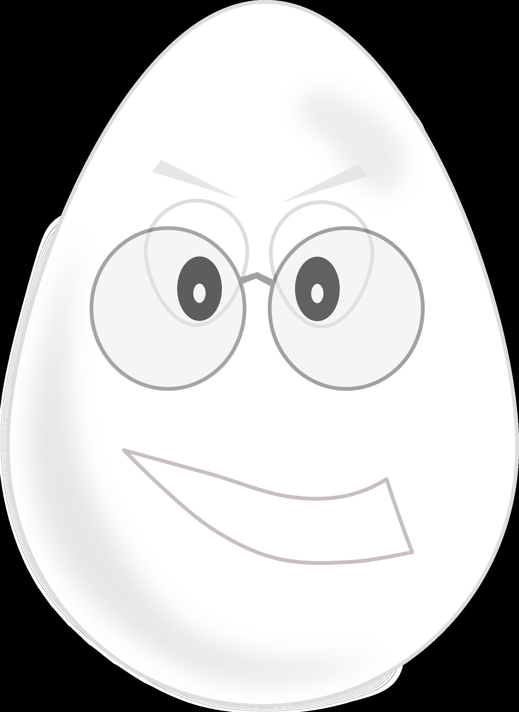 Wear glasses big image. Egg clipart face