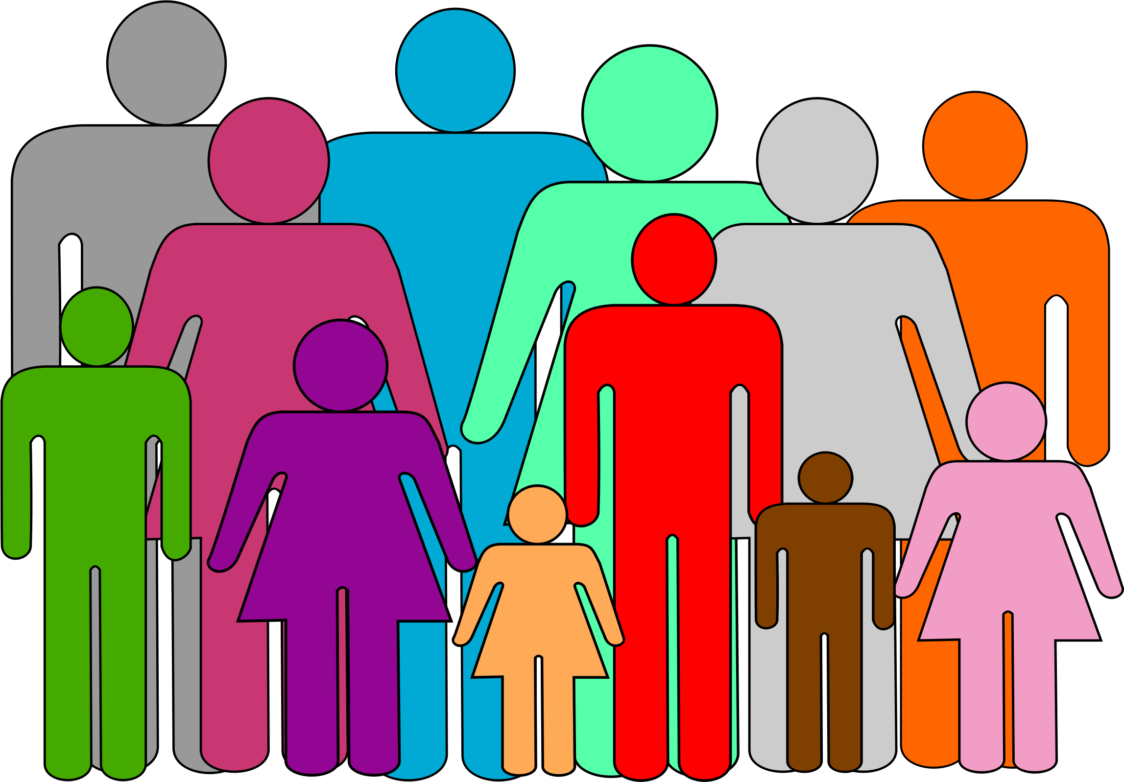 Photo clipart extended family. Big