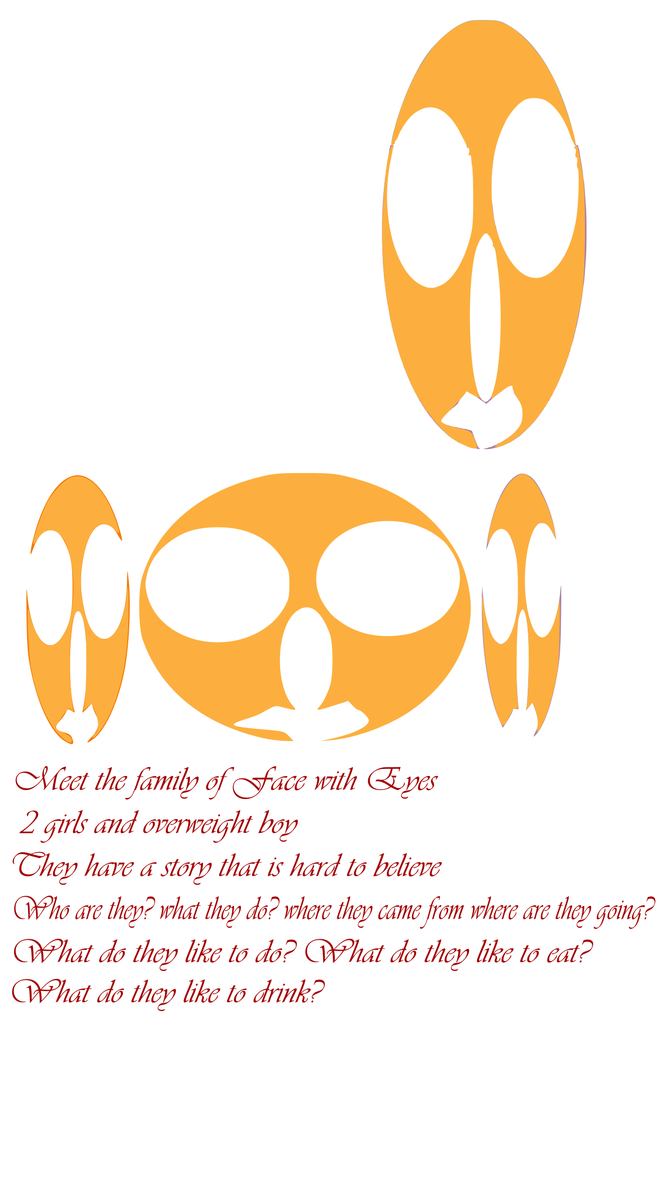 Face clipart family. Of with eyes big