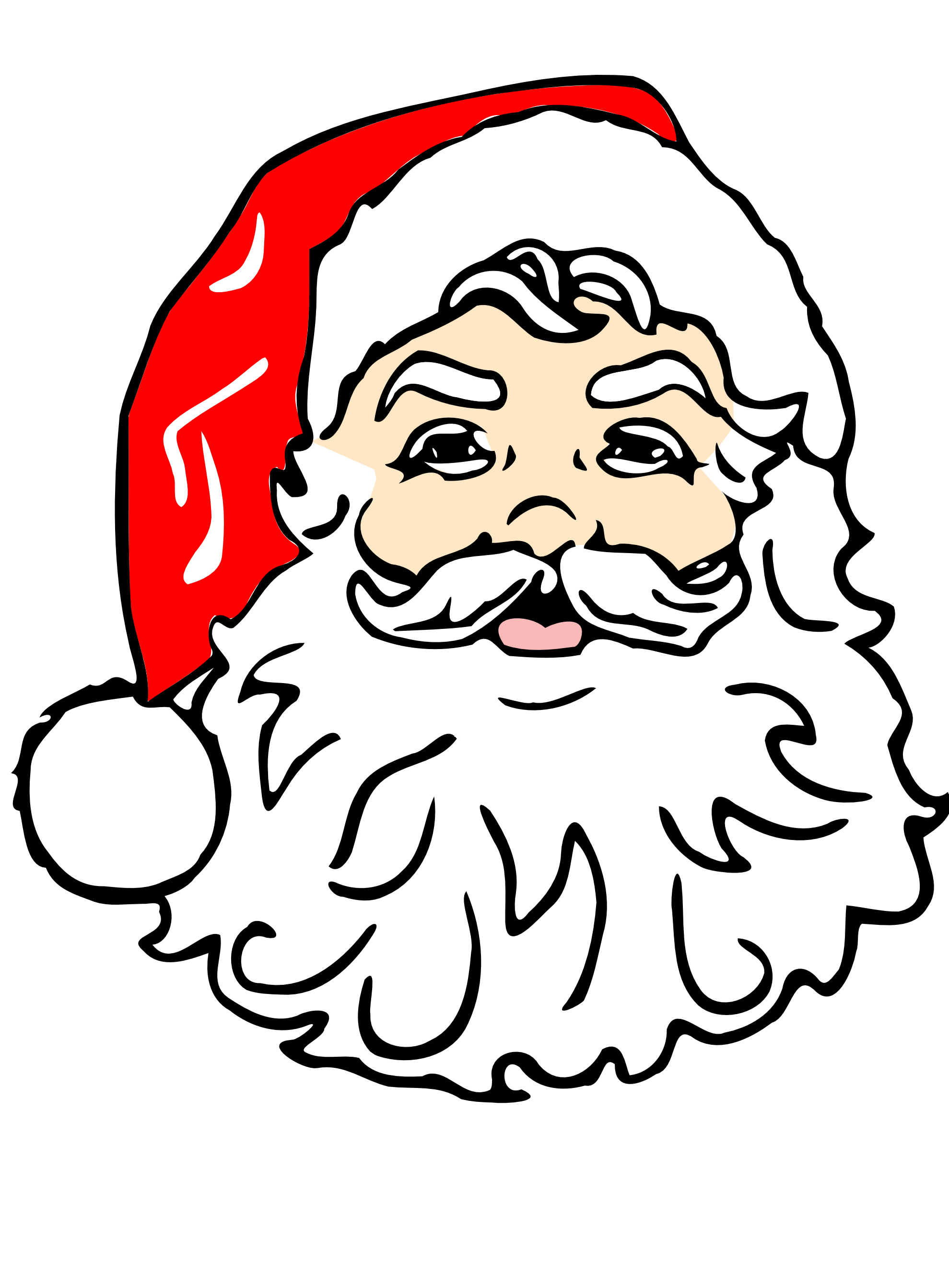 Beard father pencil and. Clipart guitar santa