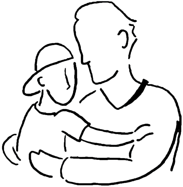Dad and son png. Father clipart cute