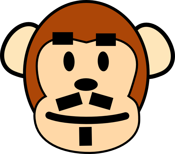 Clipart face father. Monkey clip art at