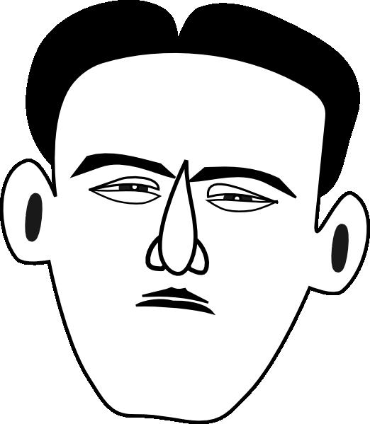 Face clip art at. Fear clipart timid