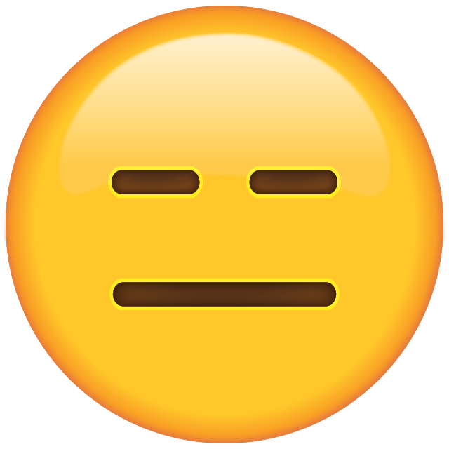 Fear clipart fear face. Download expressionless emoji pinterest
