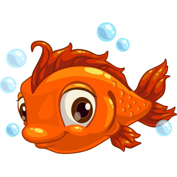Fish clipart face. Adorable animal icons cartoon