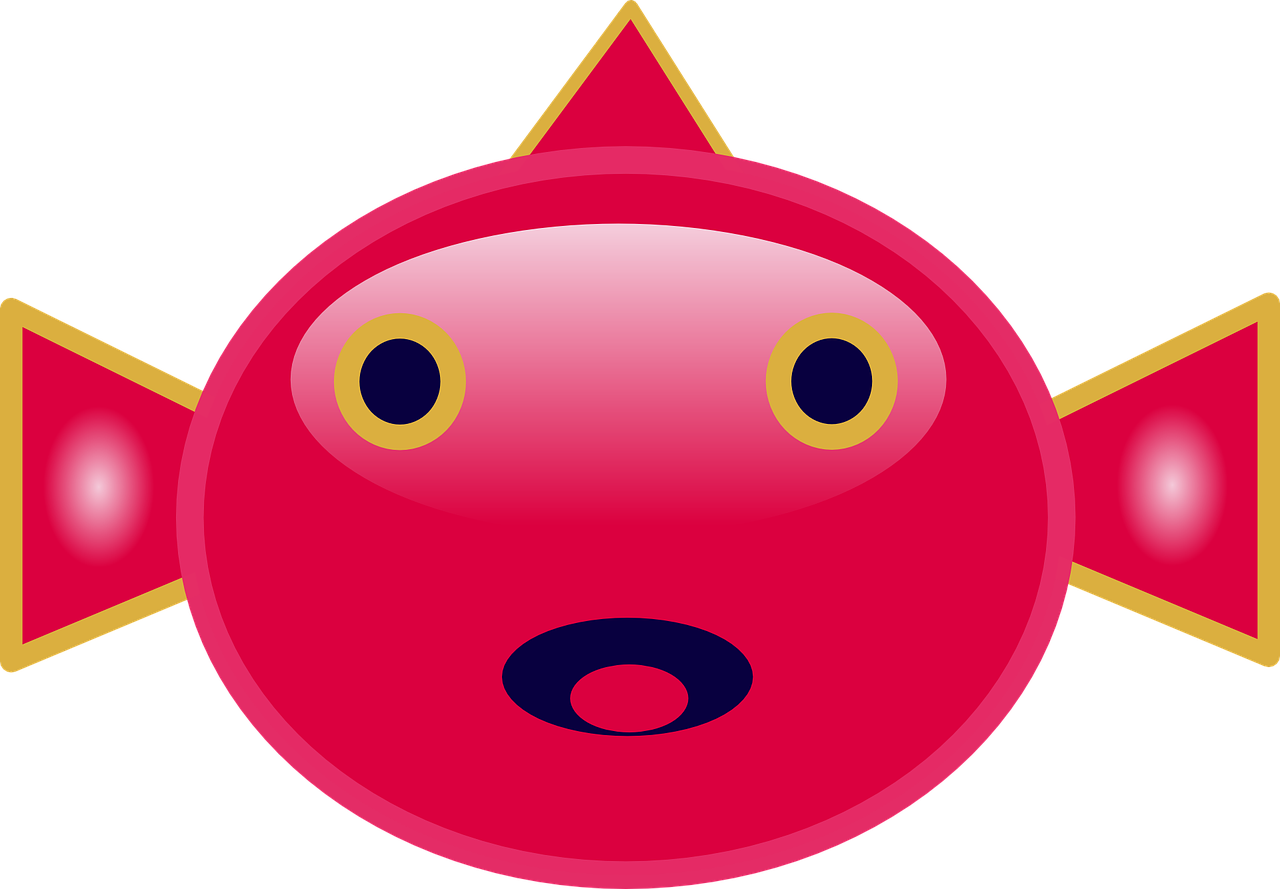 Clipart fish face. Mouth eyes red png