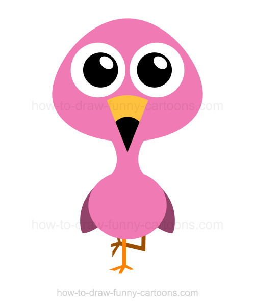 Flamingo clipart face. Cartoon images free download