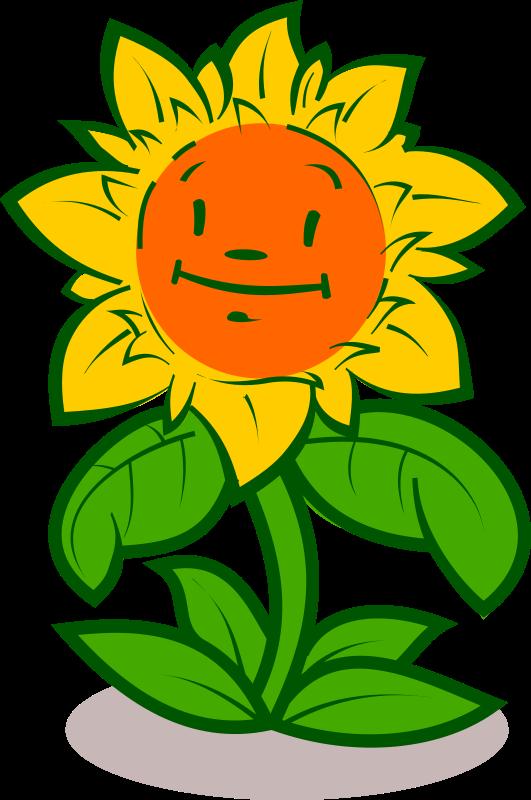 Face clipart flower. Cartoon cute medium image
