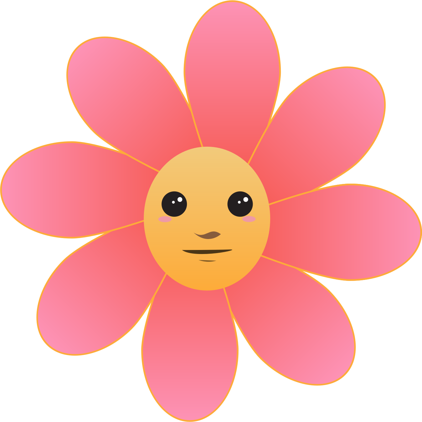Big image png. Face clipart flower