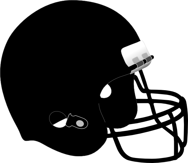 Black football helmet png. Clip art at clker