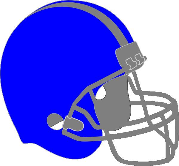 Blue football helmet clip. Mask clipart cowboy