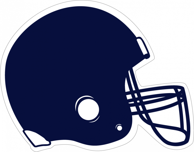 Clipart football template. Navy blue helmet