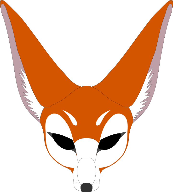 Mask medium image png. Clipart fox graphic