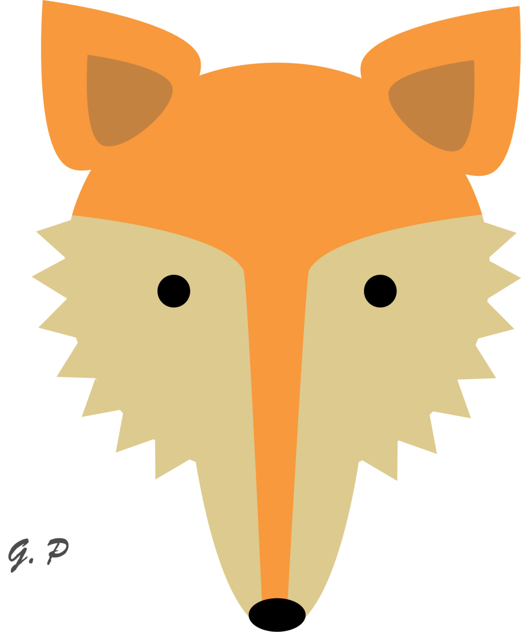 Free fox face cliparts. Hamster clipart simple
