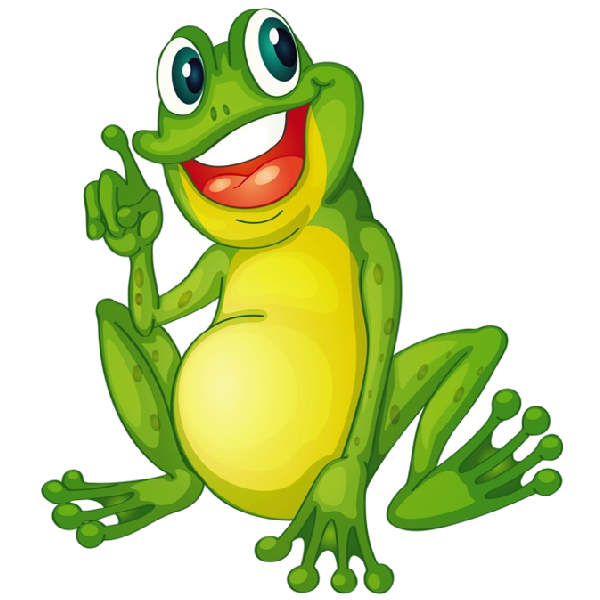 Funny cartoon animal clip. Clipart teacher frog