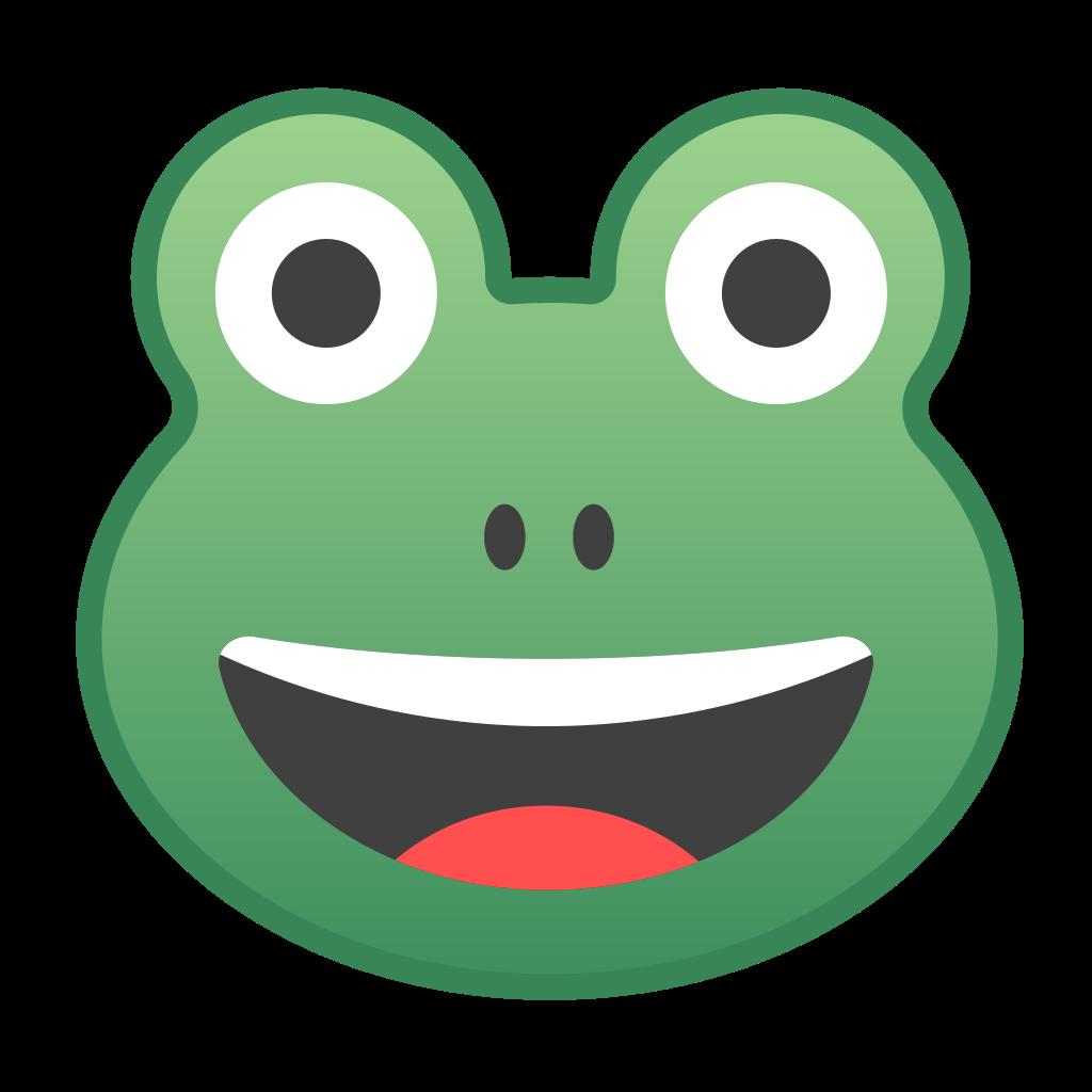 emoji clipart frog