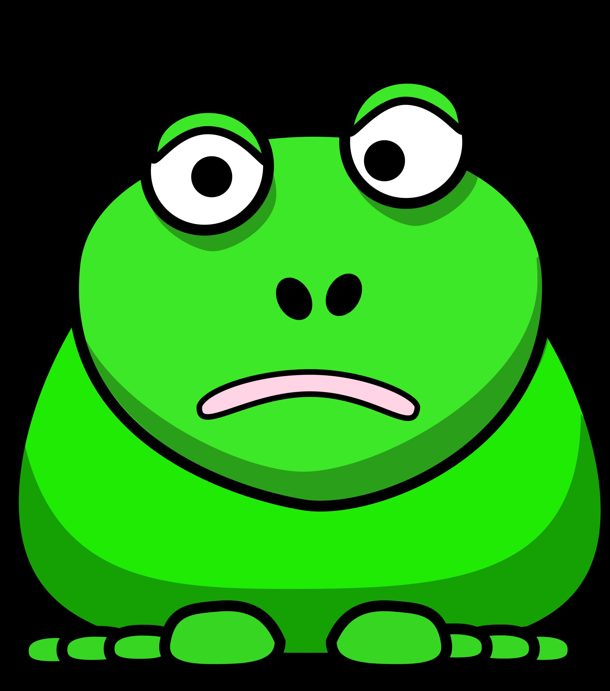 Cartoon big image png. Clipart frog toad