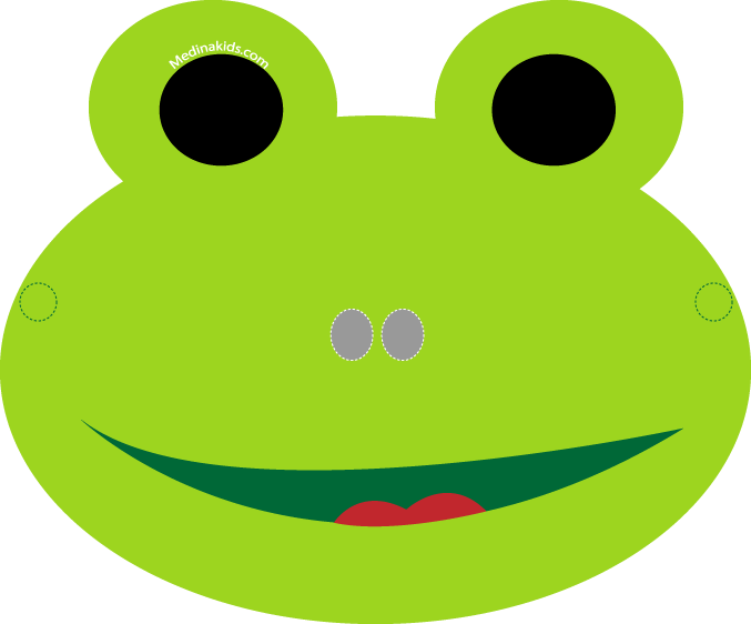 Clipart frog template.  collection of mask