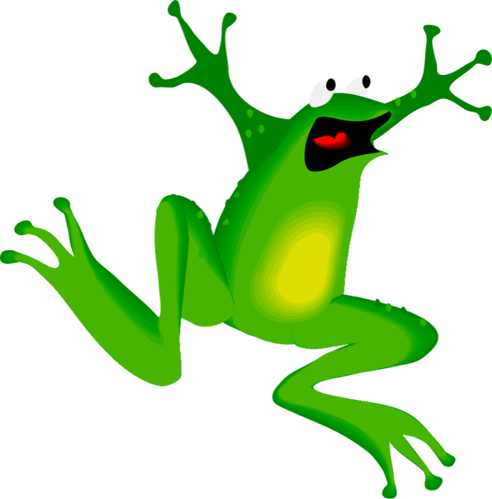 Leaf clipart frog. And toads free animal