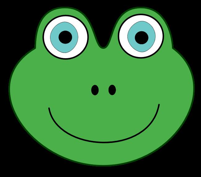 Green frog . Wildcat clipart face