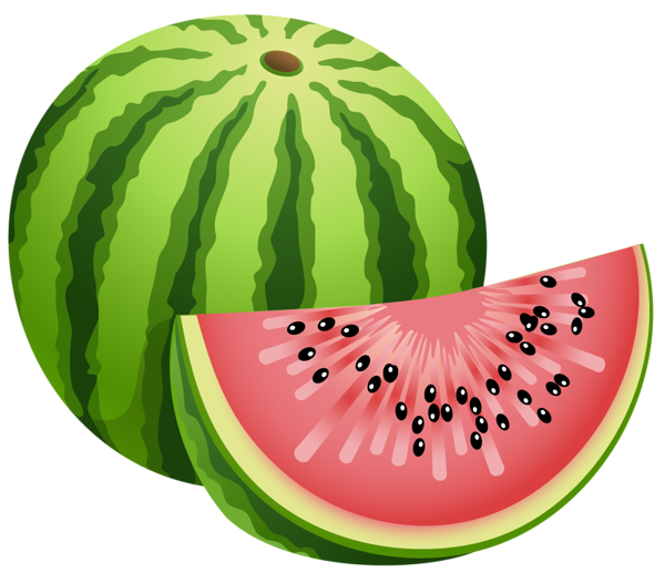 Large painted watermelon png. Vegetables clipart fair