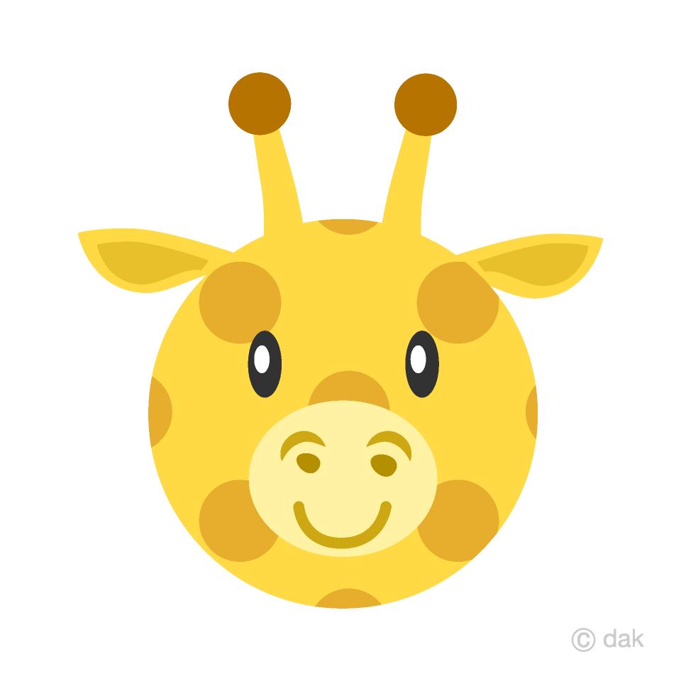 Cute free picture illustoon. Giraffe clipart face