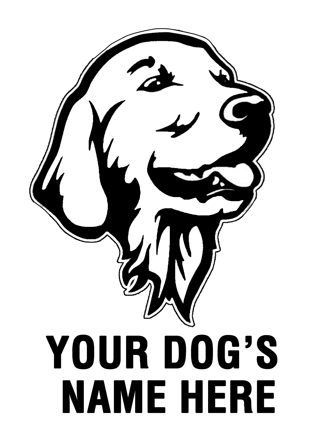 Line drawing at getdrawings. Clipart puppy golden retriever