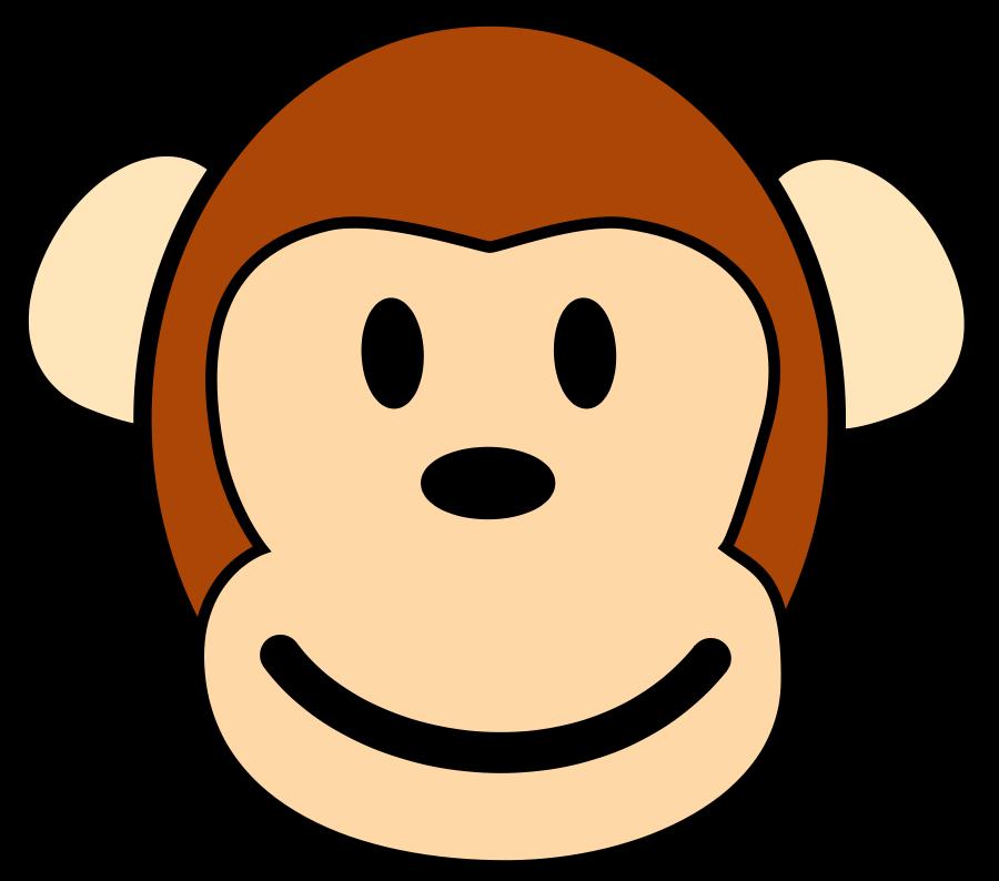 White headed capuchin monkey. Clipart face gorilla