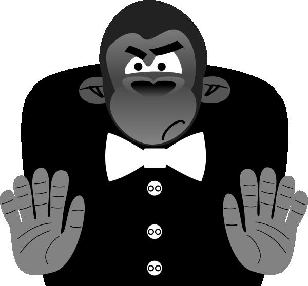 Clipart face gorilla. Toon clip art at