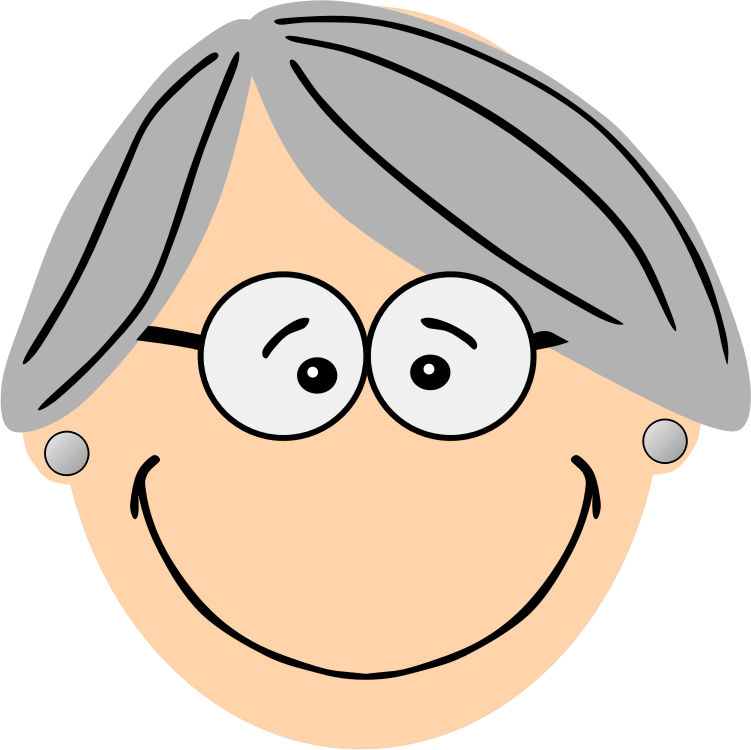 collection of grandma. Face clipart grandmother