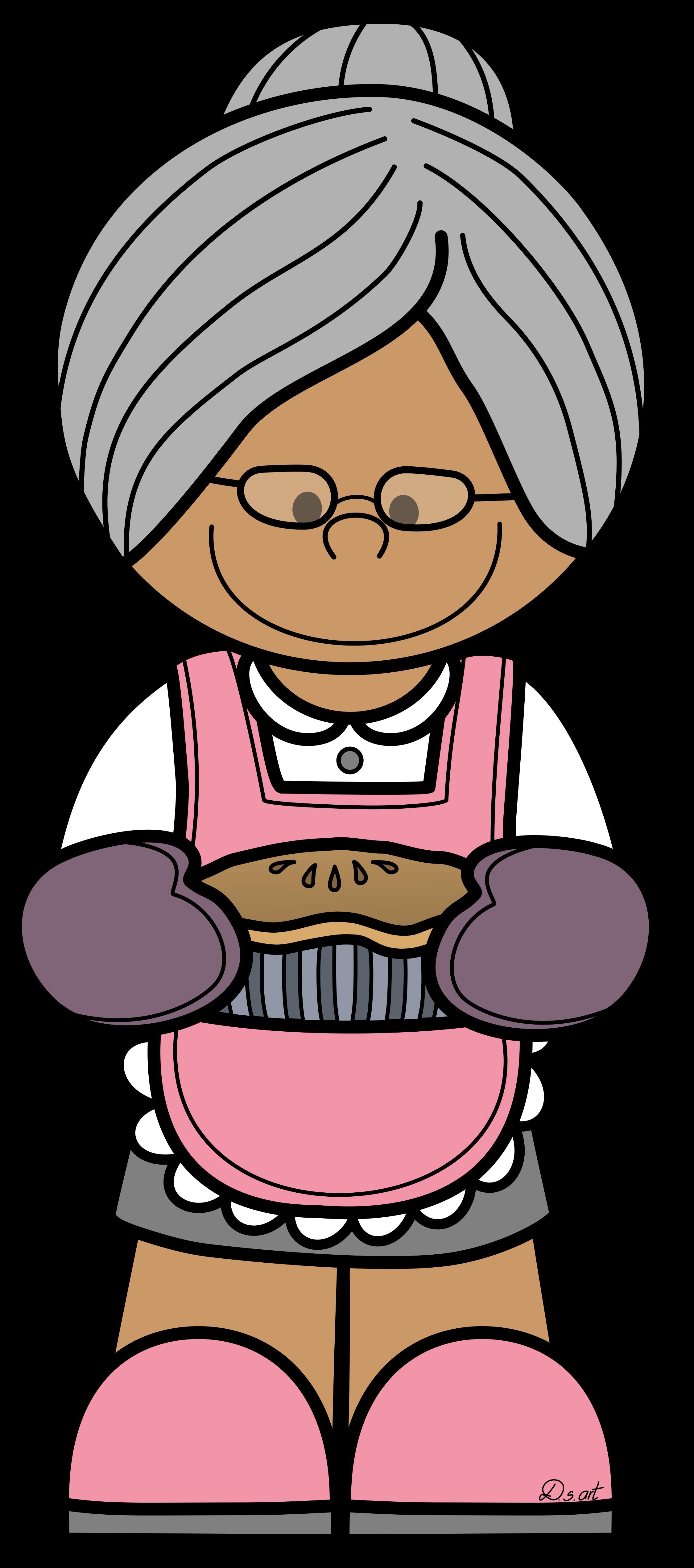 Abuela. Grandma clipart hip