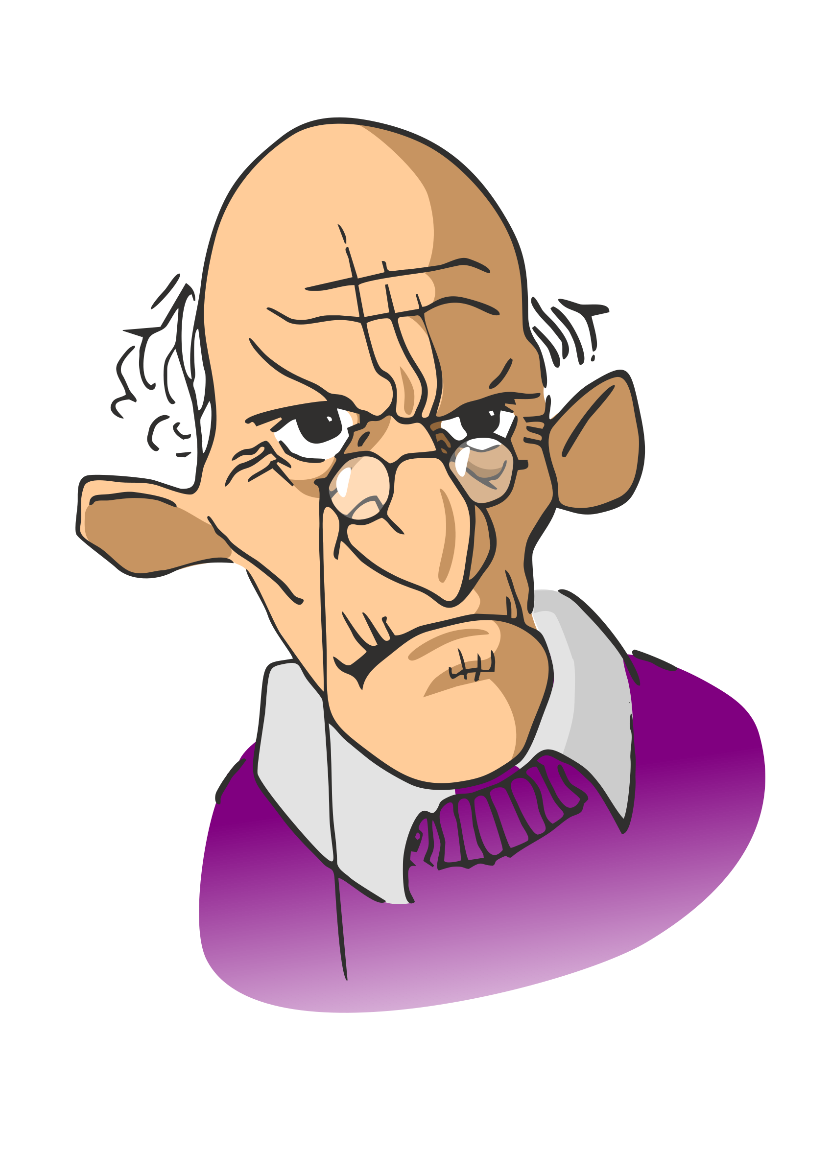 Old person beautiful by. Clipart walking elderly
