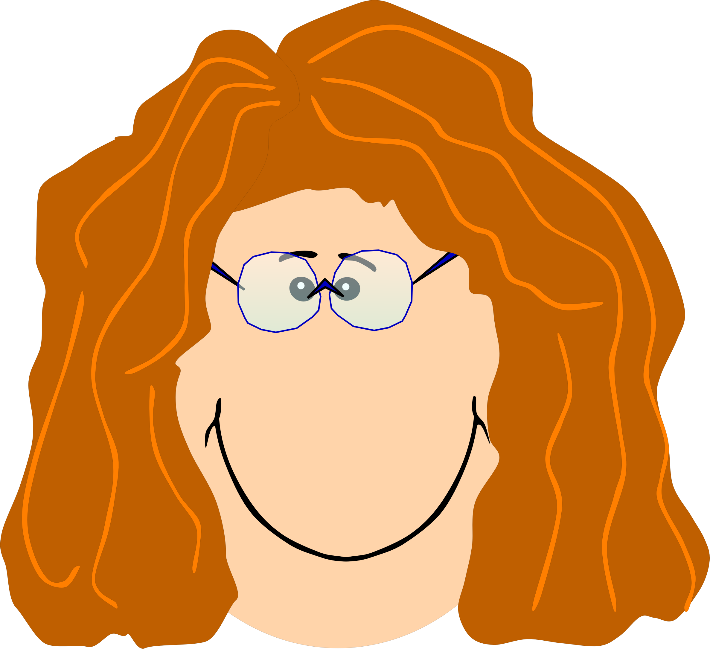 Grandma with big image. Nose clipart spectacles