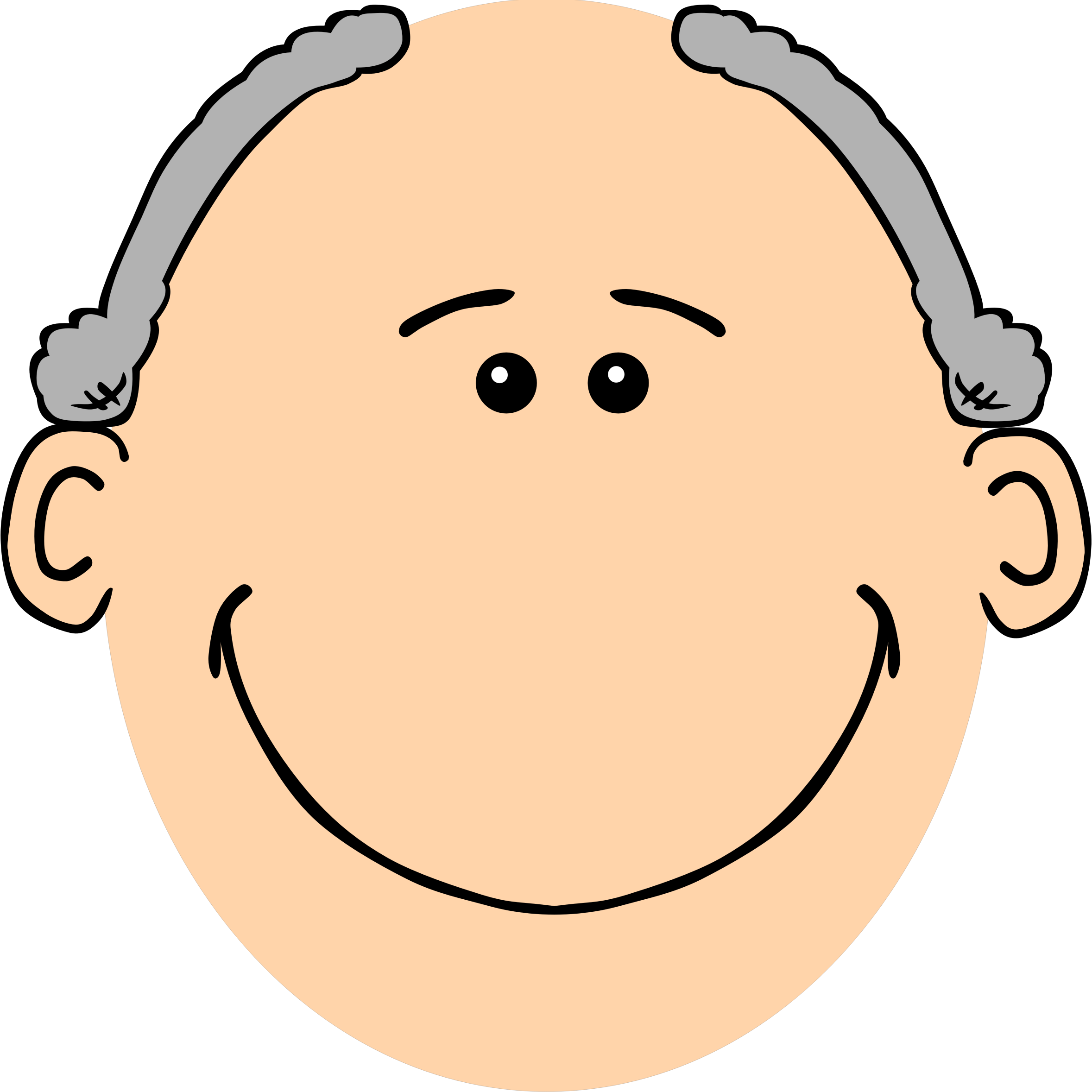 collection of grandpa. Human clipart face
