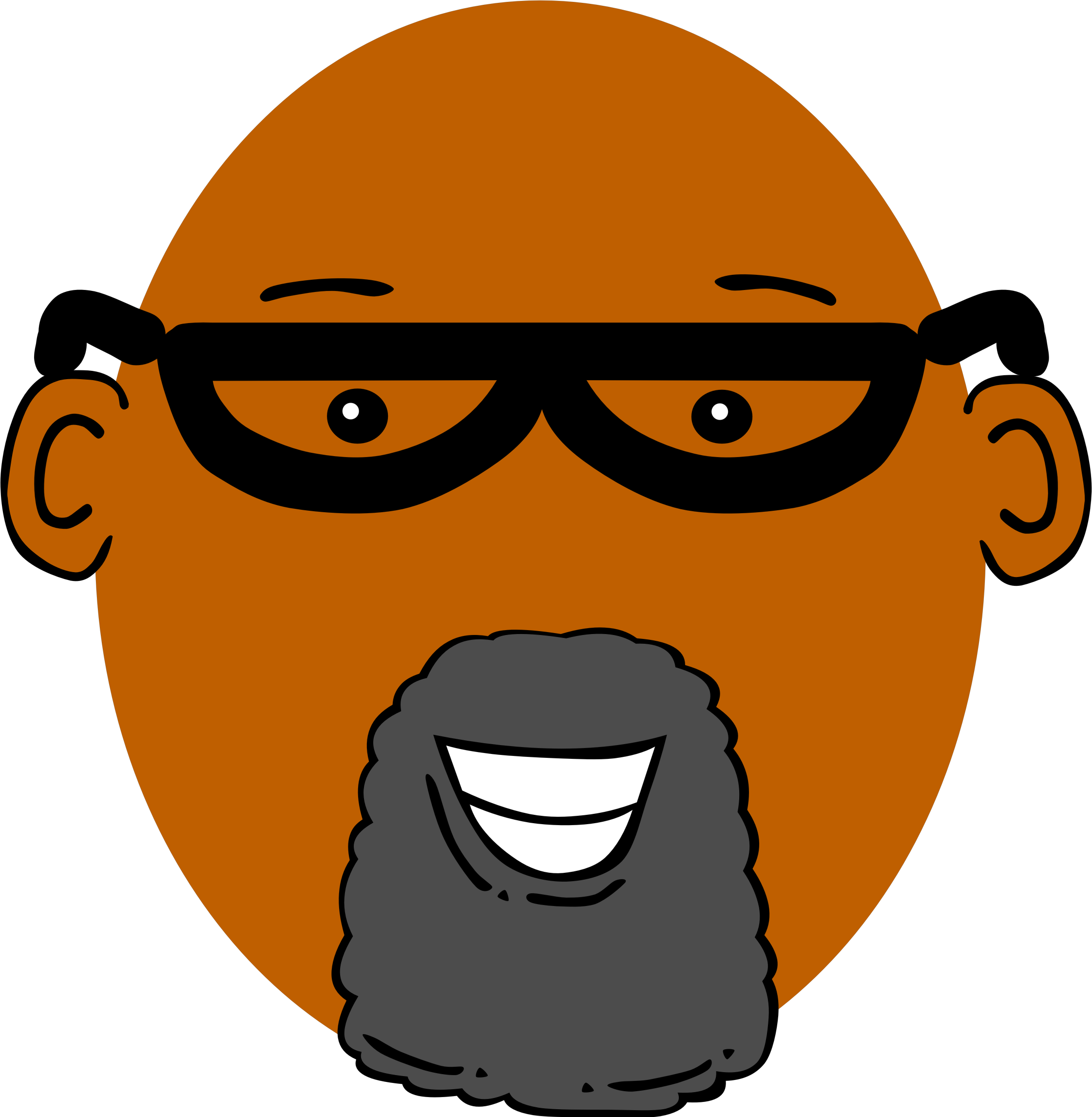 Skin clipart illustration. Grandpa with dark big
