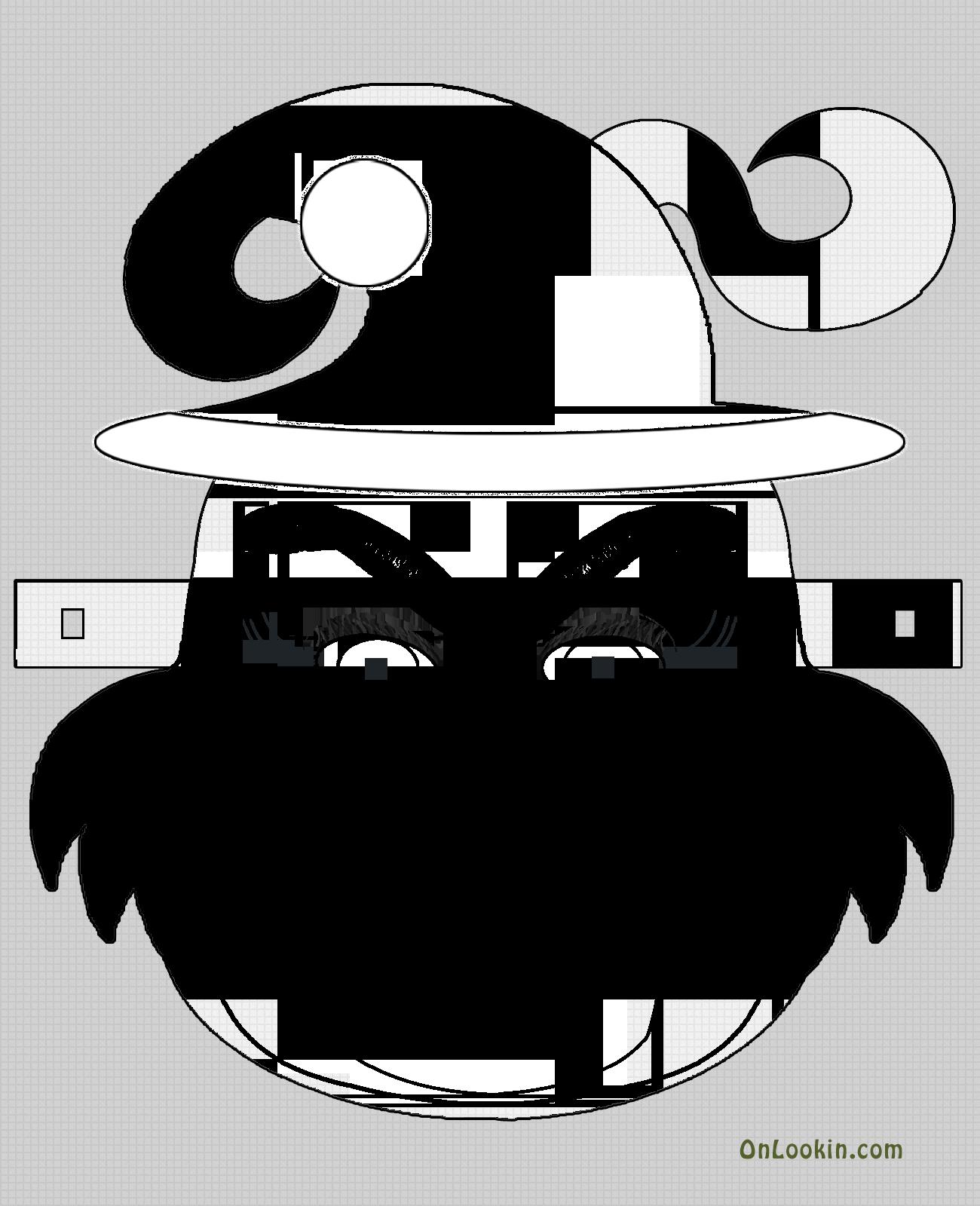 Santa clipart mask. Grinch face cut out
