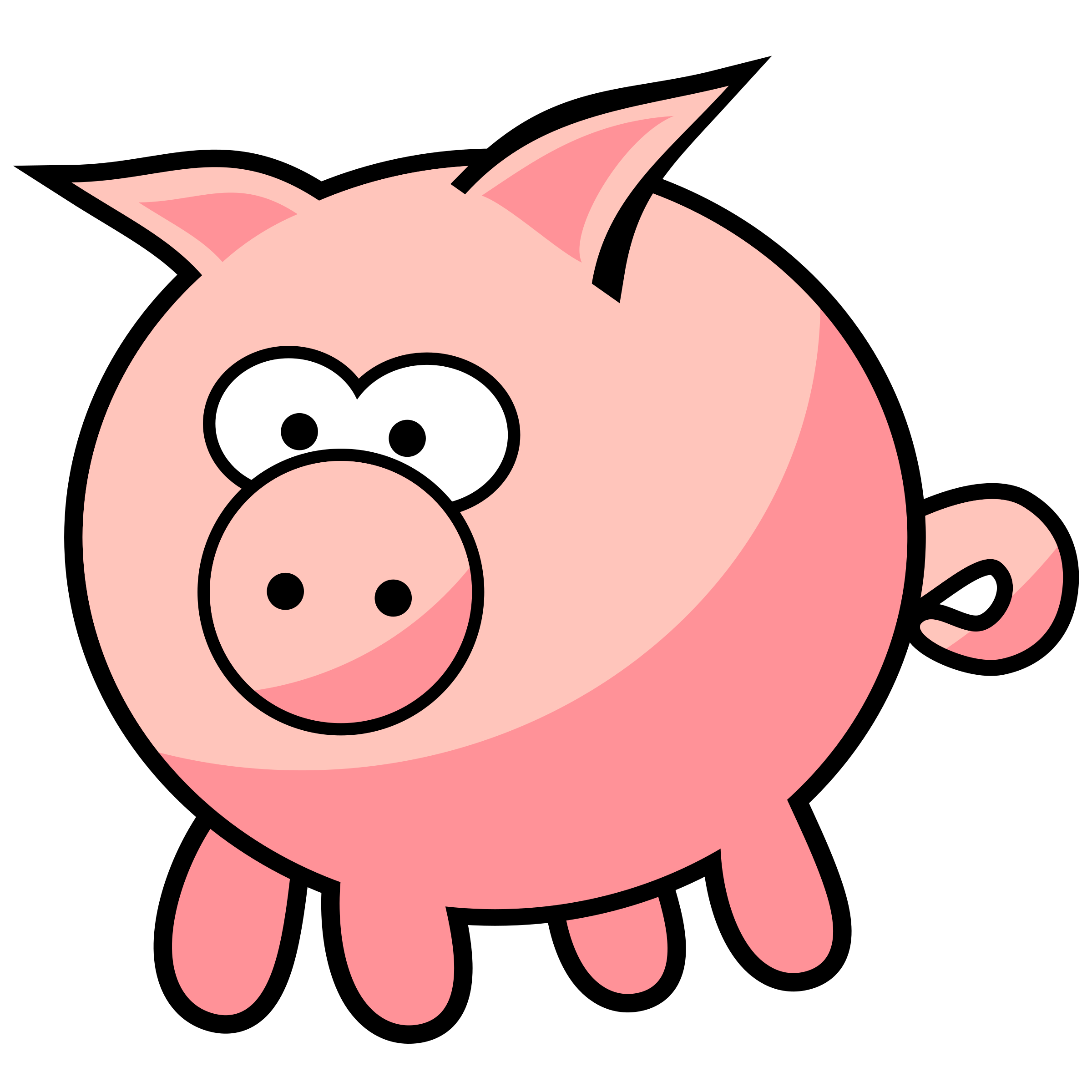 collection of transparent. Pig clipart template