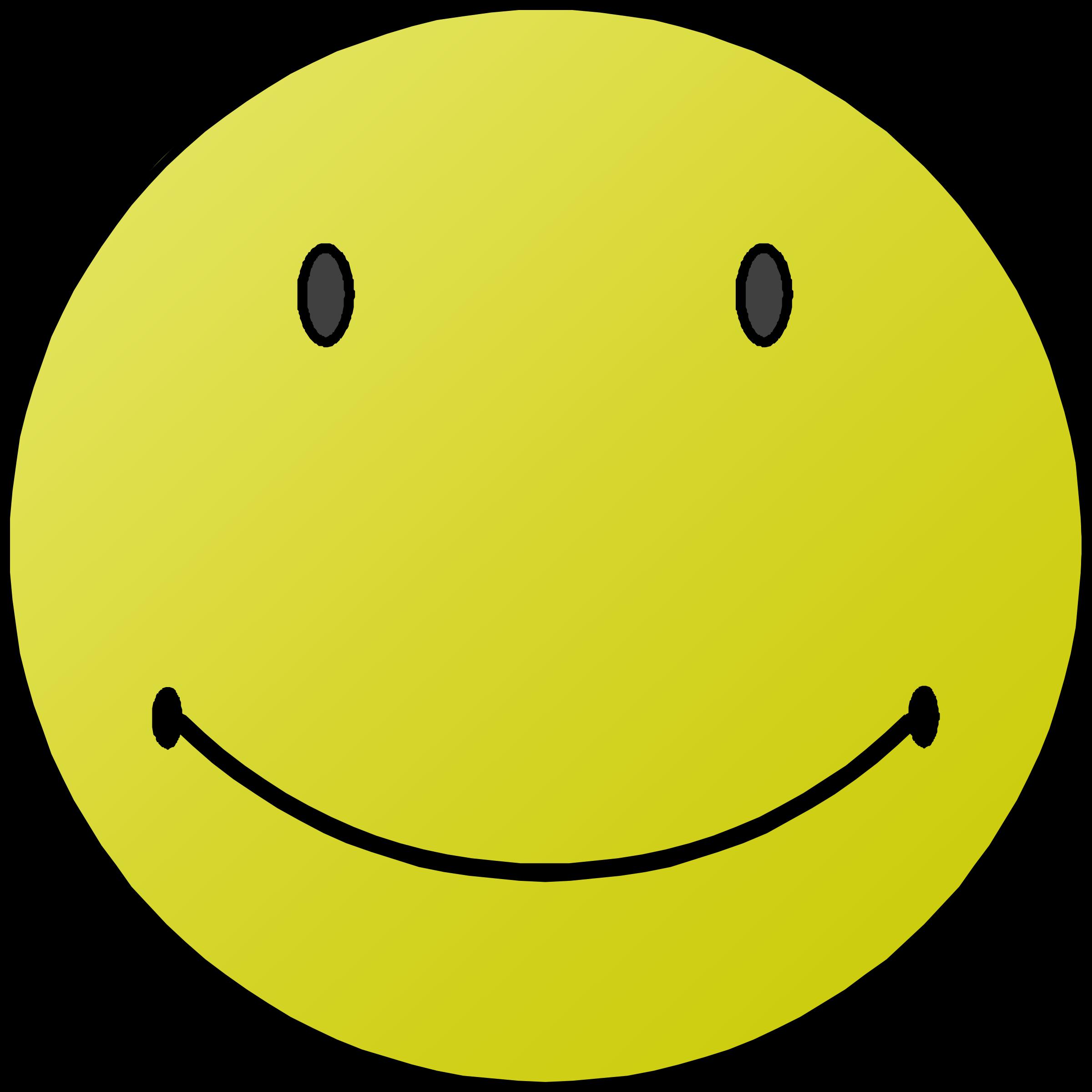 Happy day big image. Smiley clipart border