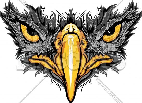 Hawk black logo vector. Falcon clipart blackhawk