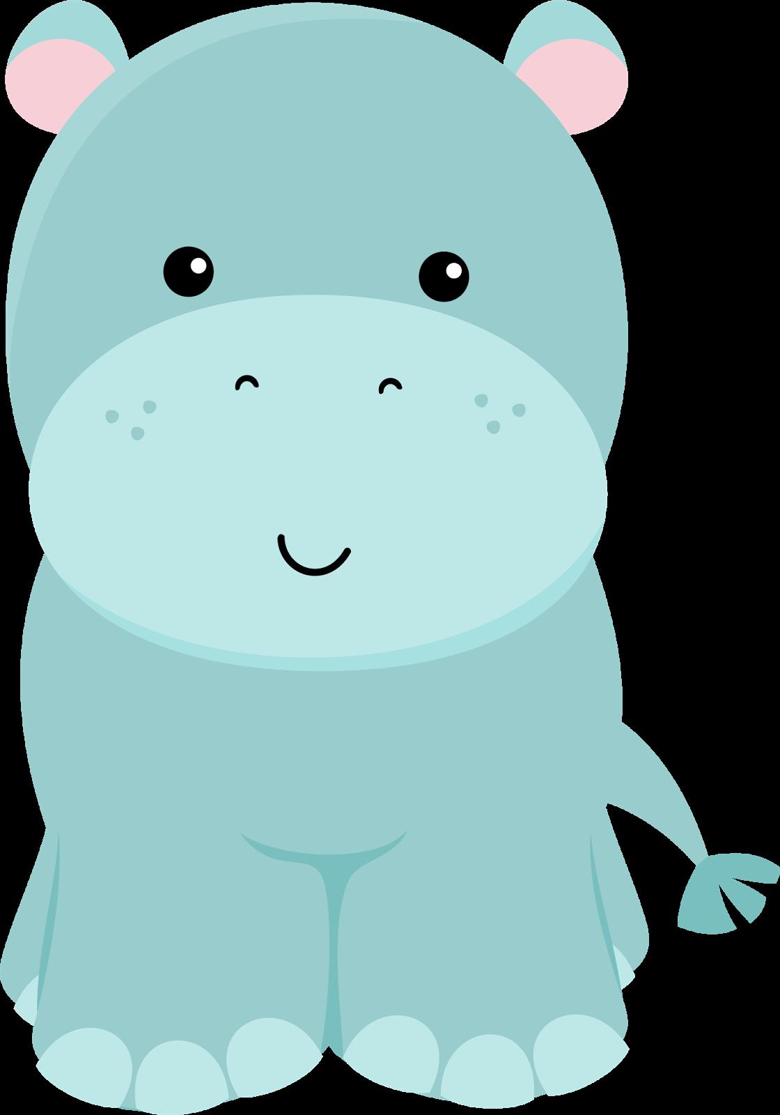 clipart hippo printable