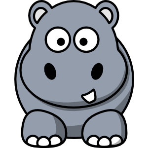 Free cliparts download clip. Hippo clipart face