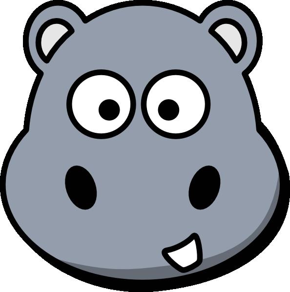 Hippo clipart grey. Head clip art at
